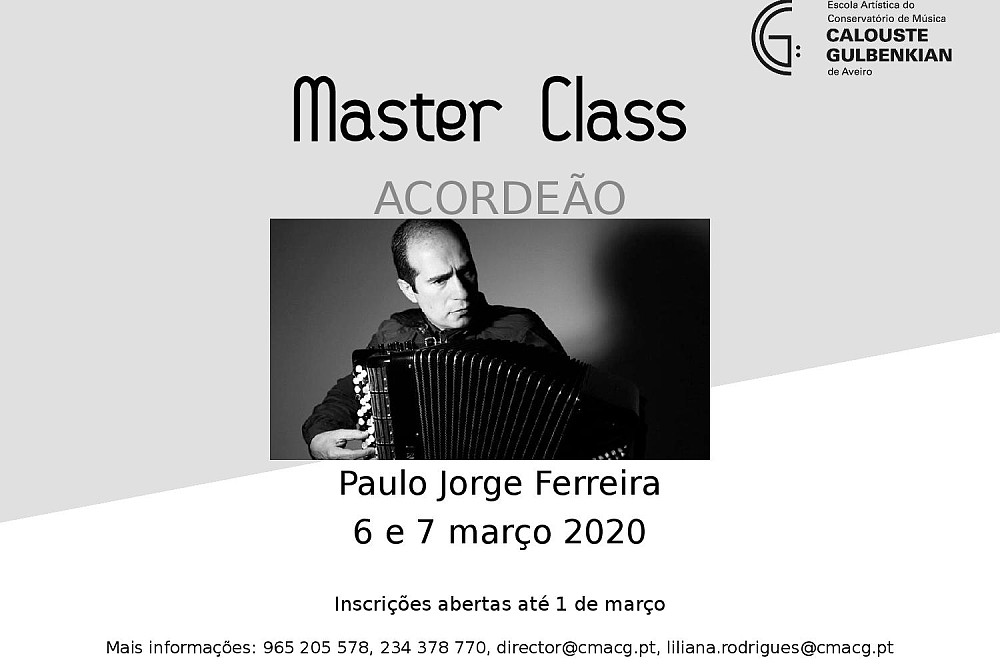 Master-class Acordeão - Escola Artística do Conservatório de Música Calouste Gulbenkian