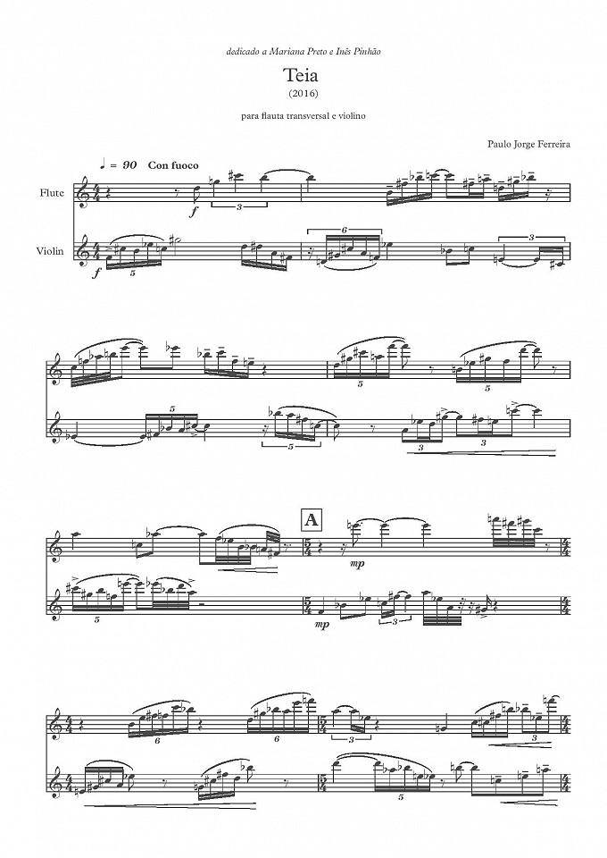 Teia - Flauta transversal e Violino