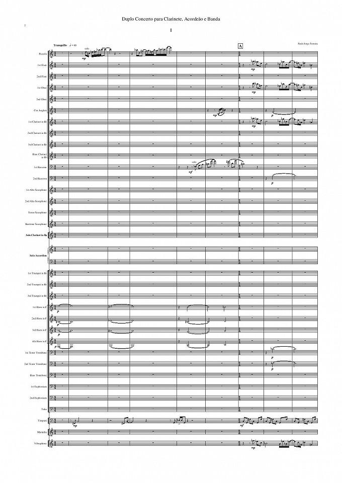 Duplo Concerto - Clarinete, Acordeão e Banda Sinfónica